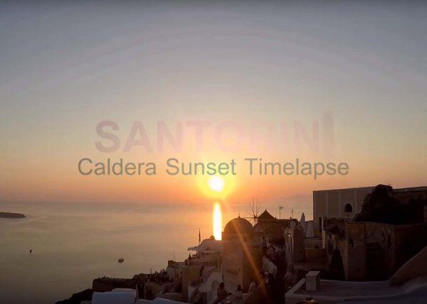 Santorini Caldera Sunset Timelapse